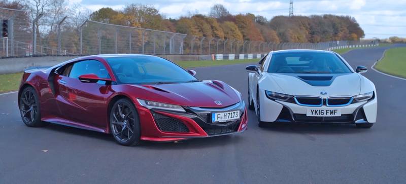 This Bmw I8 Vs Acura Nsx Track Showdown Proves The Future May Not Suck