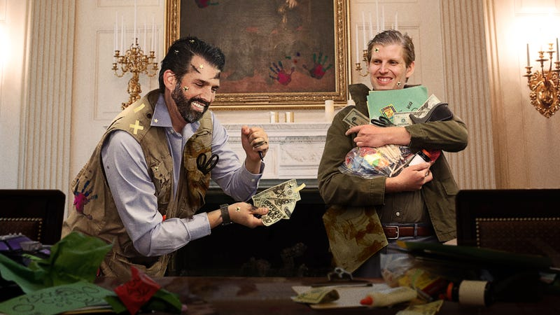 Illustration for article titled Trump Boys Counter Chinese Currency Manipulation By Adding Extra Zeros To $20 Bills