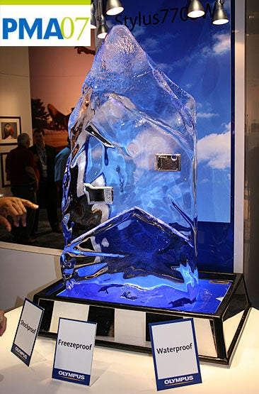 Illustration for article titled PMA 07: Olympus Stylus 770SW Frozen Into a Solid Block of Ice
