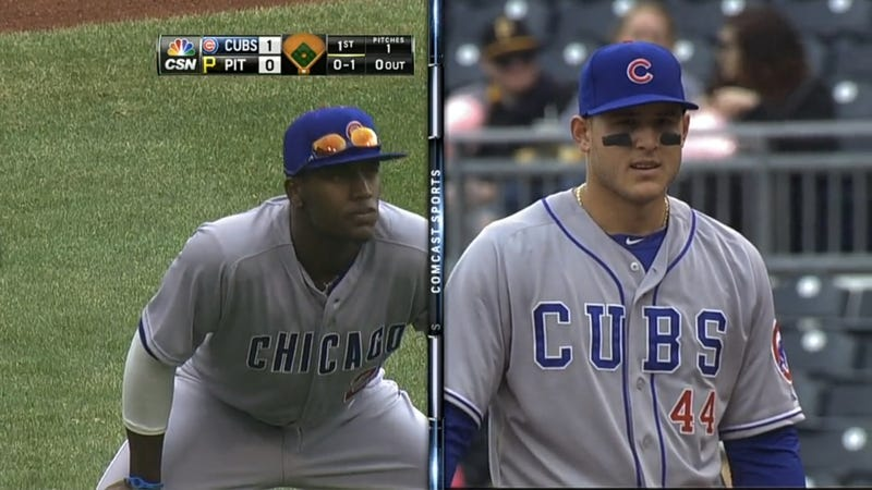 Illustration for article titled The Cubs Aren't Even Bothering With Matching Uniforms Anymore