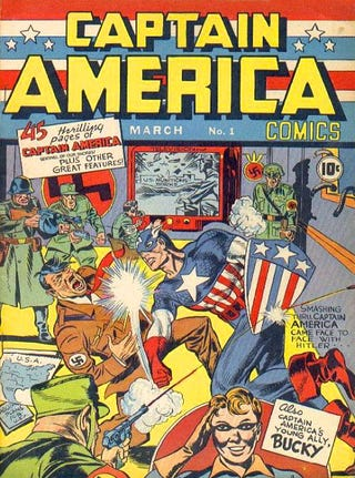 "Illustration for article titled Nothing Says ""Happy Independence Day"" Like Captain America Punching Hitler In The Face"