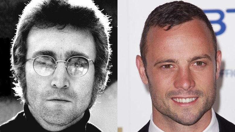 Illustration for article titled Pistorius Case Takes Dramatic Turn As Altered Plane Of Reality Results In Paralympian Shooting John Lennon