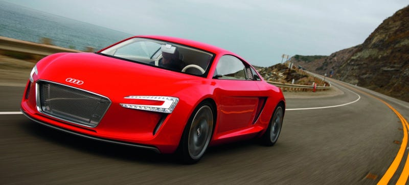 Illustration for article titled The 2015 Audi R8 Will Get Plug-In Hybrid And Electric Versions