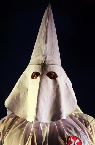 Ku Klux Klan memberMark Kolbe/Getty Images