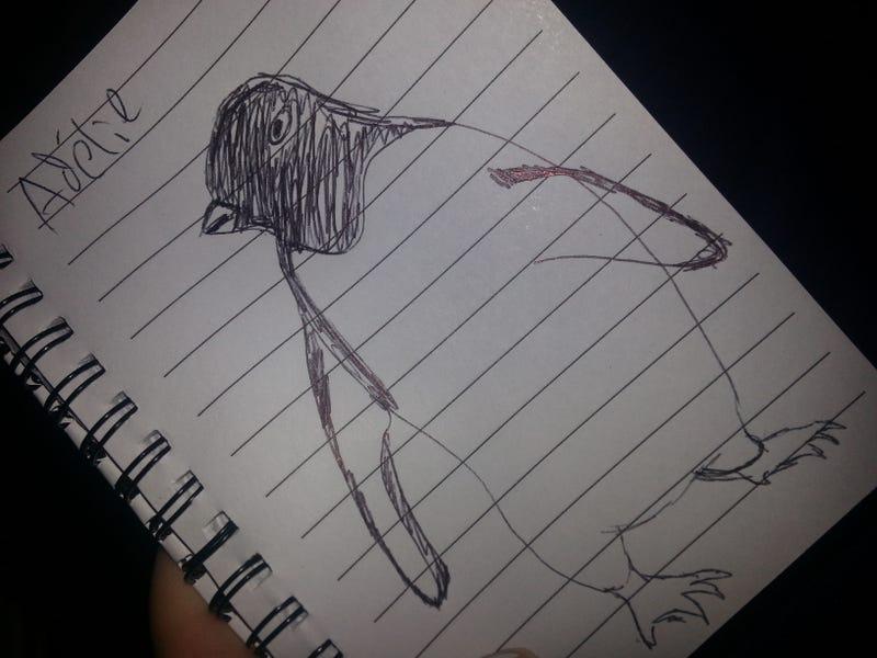 Illustration for article titled I doodled penguins