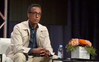 Andre Royo speaks onstage Aug. 3, 2015, during the Hand Of God panel discussion as part of the 2015 Summer Television Critics Association Tour in Beverly Hills, Calif.Charley Gallay/Getty Images for Amazon Studios