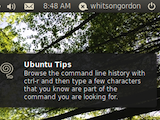 Illustration for article titled Ubuntu Tips Applet Fills Your Brain with Useful Command Line Knowledge