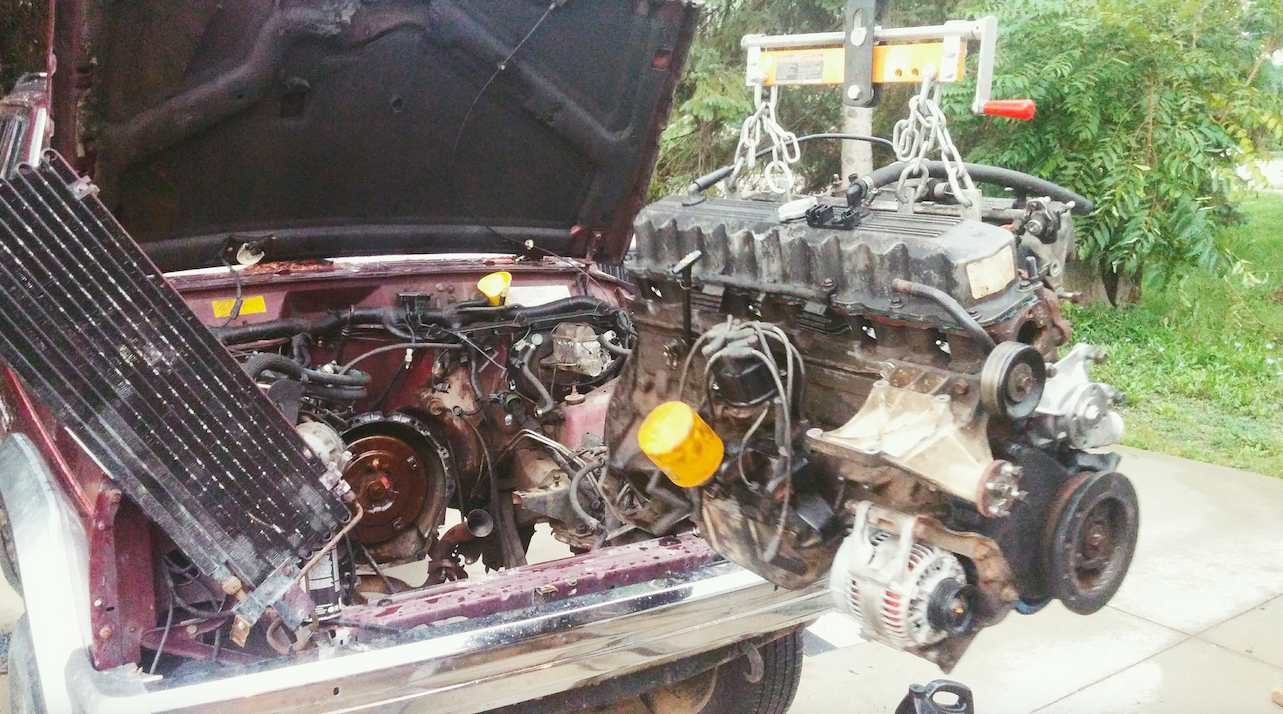 here's what happened when i put a $120 craigslist engine into my jeep  jeep 4 0l engine bellhousing diagram #3