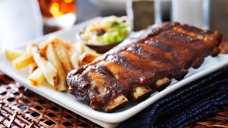 The ribs that are $19.