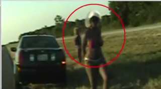 Screenshot from the dashboard footage of the incident.YouTube