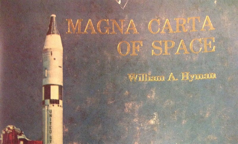 Illustration for article titled Magna Carta Of Space Was A First Attempt At Laws For The Final Frontier