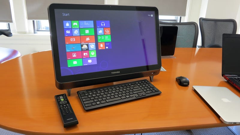 Illustration for article titled Hands On: Toshiba's New All-in-One Feels Great, Looks Average