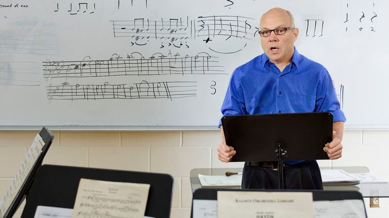 Illustration for article titled High School Band Teacher Spends 85% Of Rehearsal Hammering In Dress Code For Holiday Concert
