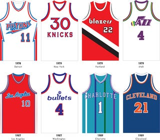Illustration for article titled 165 Sweet Basketball Jerseys On One Gorgeous Poster