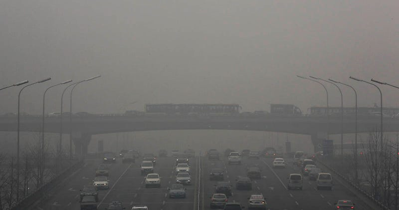 Illustration for article titled La nube de contaminación sobre China ya es más grande que toda España