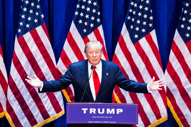 Donald Trump gives a speech as he announces his candidacy for the U.S. presidency at Trump Tower on June 16, 2015, in New York City.Christopher Gregory/Getty Images