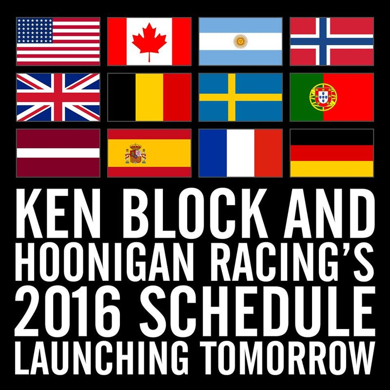 Illustration for article titled Ken Block will race in these countries this year