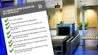 Illustration for article titled Get Through the Airport in Record Time with This Checklist