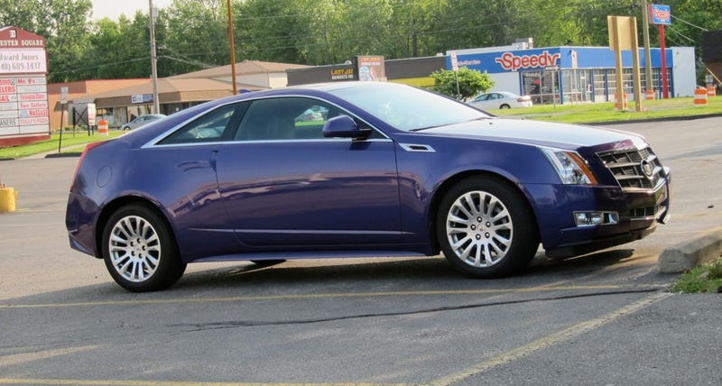 Illustration for article titled Who bought the purple people-eater edition Cadillac CTS Coupe?