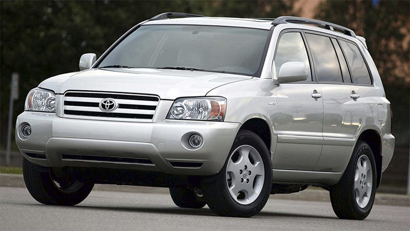Behold, the mighty 2003 Toyota Highlander (Image: Toyota)