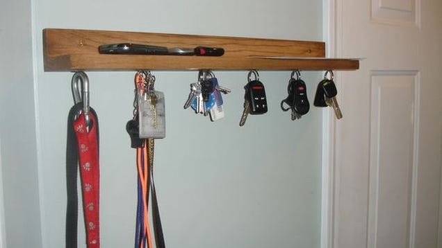 make your own diy magnetic key shelf. Black Bedroom Furniture Sets. Home Design Ideas