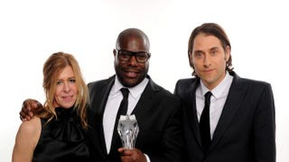 Producer Dede Gardner, director Steve McQueen and producer Jeremy Kleiner, winners of the best picture award for 12 Years a Slave, during the 19th Annual Critics' Choice Movie AwardsDimitrios Kambouris/Getty Images