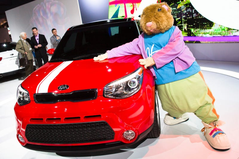 Illustration for article titled Kia Unsure Whether To Keep Soul Hamsters Skinny Or Fatten Them Back Up