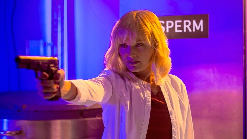 Malin Akerman as Dr. Valerie Flame (Adult Swim)