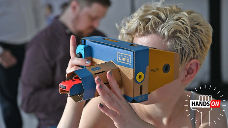 Illustration for article titled Nintendo's Labo VR Kit Is Its Wildest Cardboard Adventure Yet
