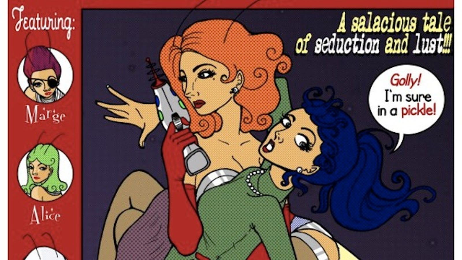 Webcomics Go Retro Pulp In I Was Kidnapped By Lesbian Pirates From Outer Space