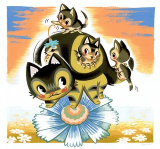 Illustration for article titled Miyazaki's Cat Bus Has Kittens