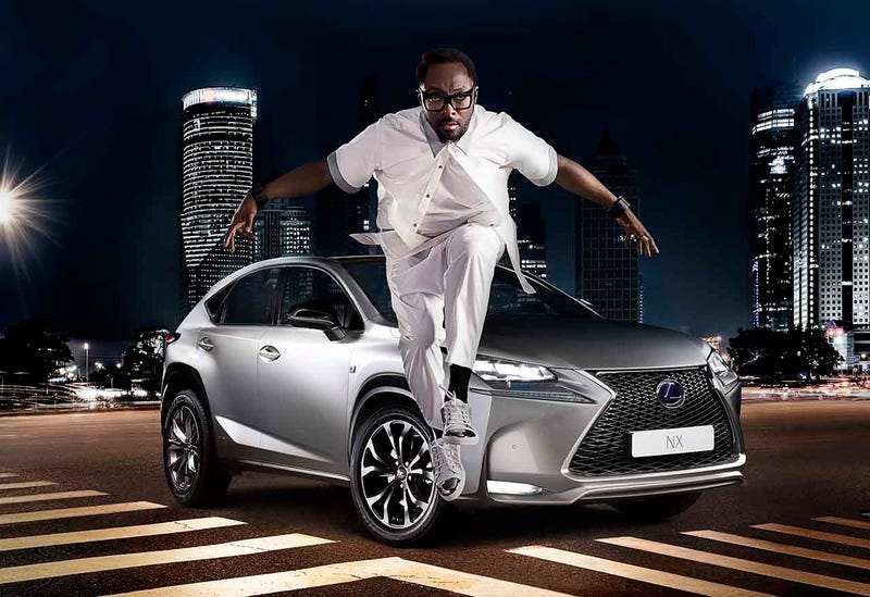 Illustration for article titled Even Will.I.Am Can't Make The Lexus NX Any Uglier