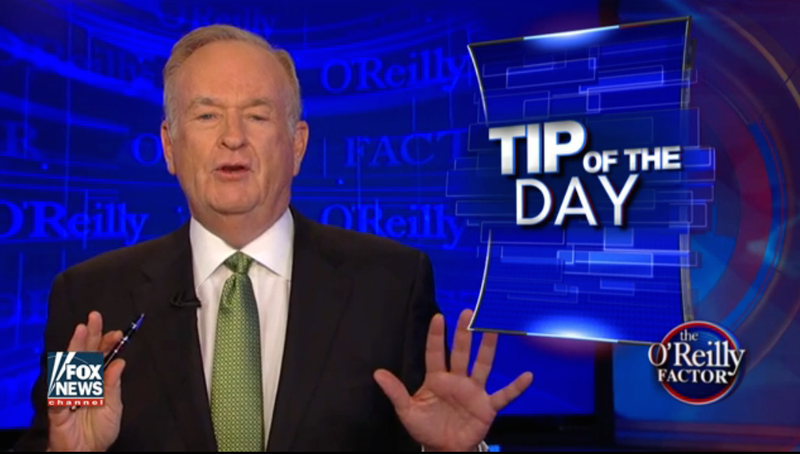 Bill O'Reilly on The O'Reilly Factor on July 26, 2016Fox News