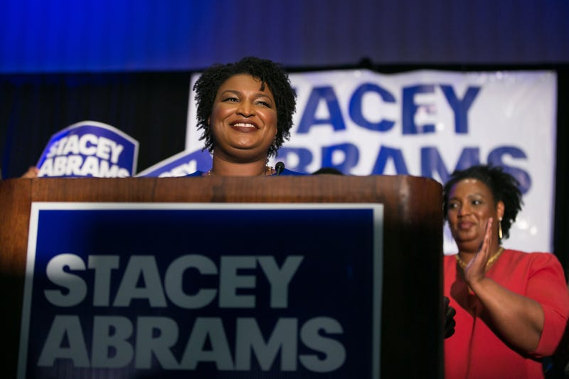 Georgia gubernatorial candidate Stacey Abrams takes the stage to declare victory in the Democratic primary on election night May 22, 2018, in Atlanta. If elected, Abrams would become the first African-American female governor in the nation.