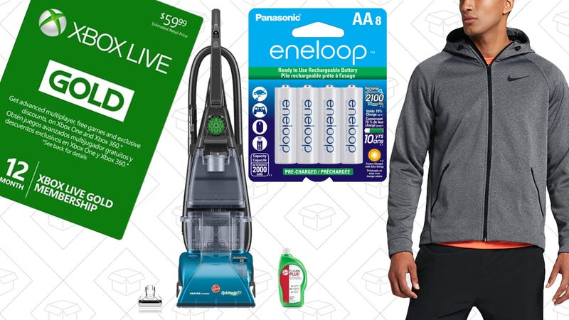 Illustration for article titled Today's Best Deals: Athleticwear, Rechargeable Batteries, Hoover SteamVac, and More