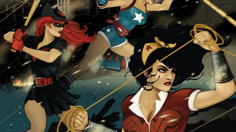 Illustration for article titled DC exclusive: The Bombshells assemble to form their own Justice League
