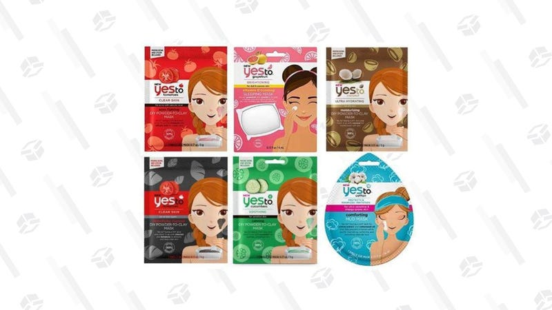 Yes To Face Mask Set - 6 Pack | $9 | Daily Steals | Promo code KINJAYES