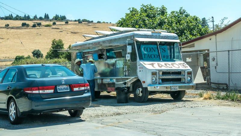 Taco truck in California.