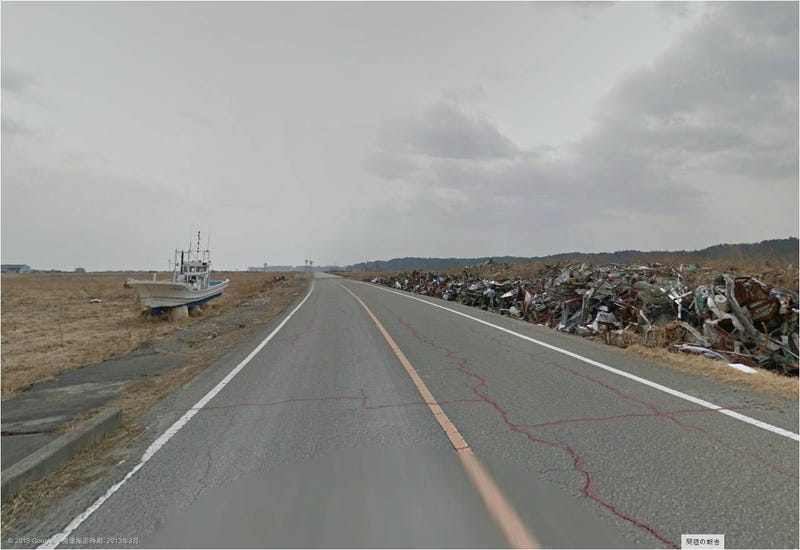 Illustration for article titled Las desoladoras imágenes alrededor de Fukushima, en Google Street View
