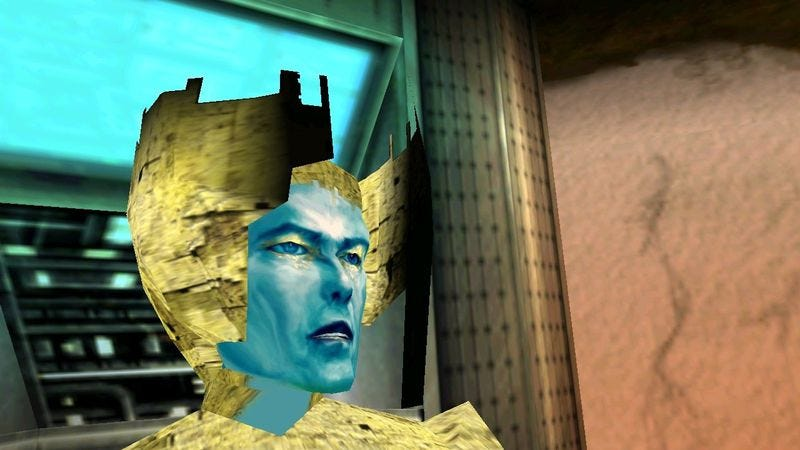 David Bowie played a mystical hologram in his lone video game role