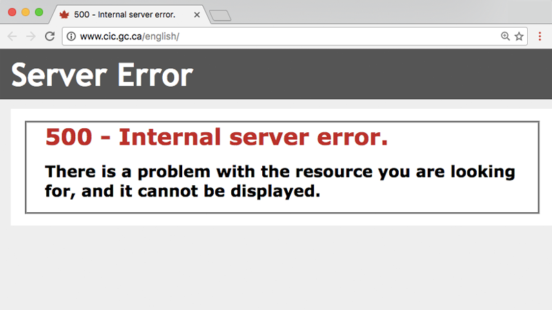 Illustration for article titled Canada's Immigration Site Keeps Crashing For Some Reason