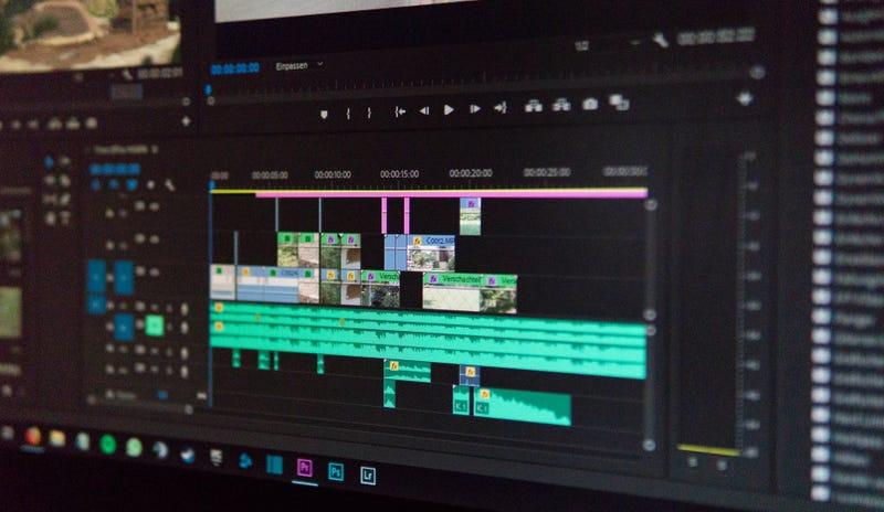 Aspecto de una captura de pantalla típica de Adobe Premiere