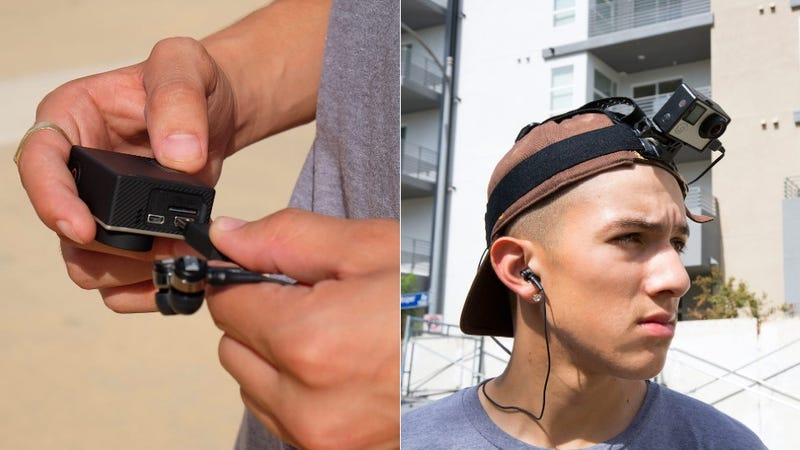 Illustration for article titled Clever Earbud Microphones Bring 3D Audio Recording to Your GoPro