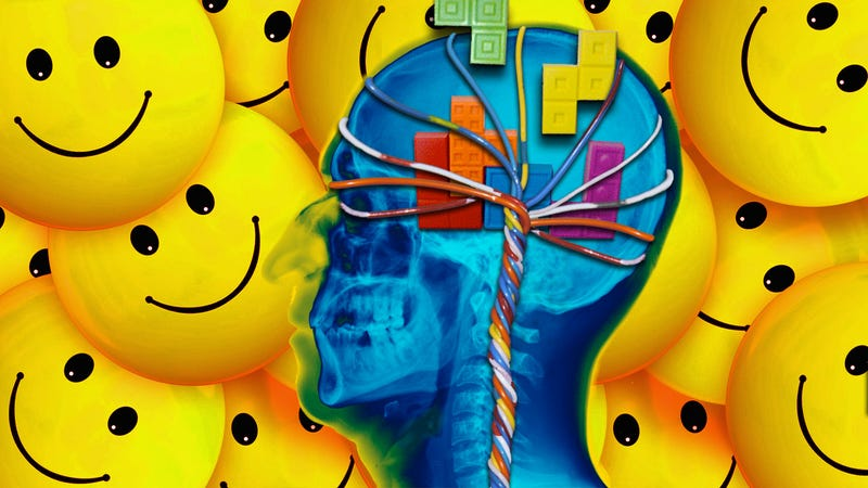 Illustration for article titled Rewire Your Brain for Positivity and Happiness Using the Tetris Effect