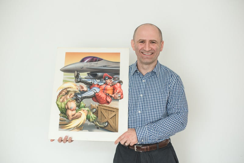 Dan owns the original box art created for Street Fighter II: Special Champion Edition on Sega Genesis. Photo courtesy 'Bronty'
