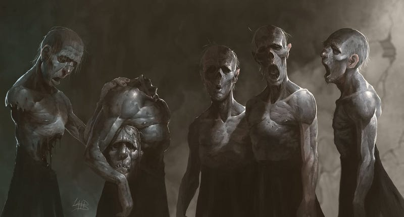 Illustration for article titled Concept Art Writing Prompt: The Choir Of The Dead