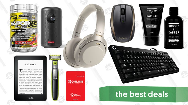 Illustration for article titled Friday's Best Deals: Logitech Accessories, Free Nintendo Switch Online, Philips OneBlade, and More
