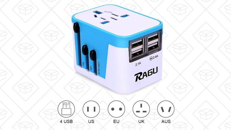 RAGU International Travel Adapter | $7 | Amazon | Clip the $11 coupon
