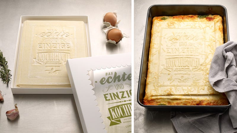 Illustration for article titled This the First Cookbook That You Can Actually Cook—Into a Yummy Lasagna!