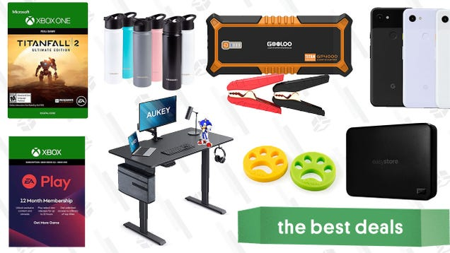 Wednesday s Best Deals: Google Pixel 3, EA Play, Titanfall 2, Gooloo 4000A Jump Starter, Aukey Electric Standing Desk, Pacifica Skincare Sale, and More